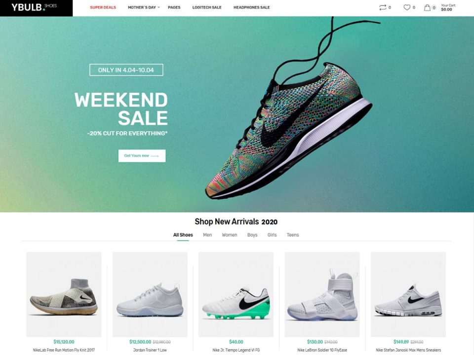 Ecommerce website for Fashion