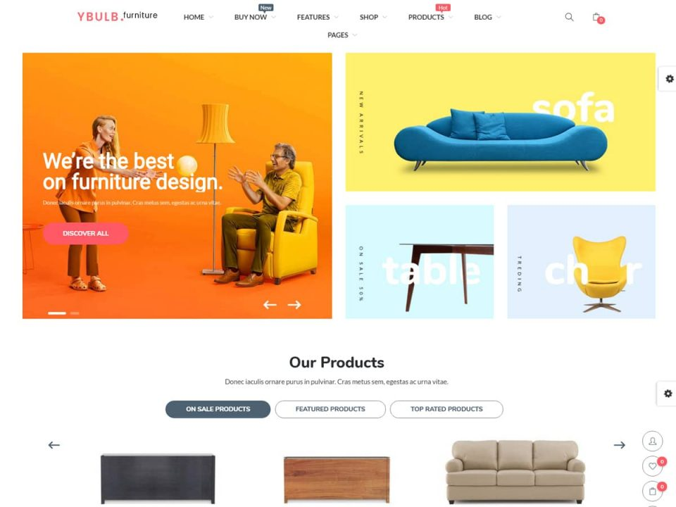 Ecommerce website for furniture